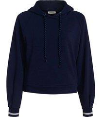 hoodie jersey donkerblauw