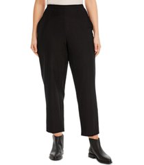 eileen fisher system plus size pull-on pants