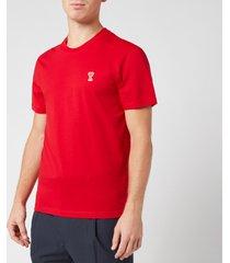 ami men's de coeur t-shirt - red - xl
