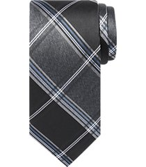 awearness kenneth cole gray & black plaid narrow tie
