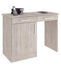 mesa para escritório armário e duas gavetas lilies  móveis