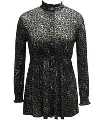 style & co leopard-print tunic, created for macy's