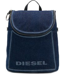 diesel convertible denim backpack - blue