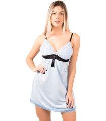 camisola bella fiore modas lisa com laço isis azul claro