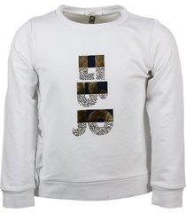 liu-jo crewneck sweatshirt with rhinestone writing