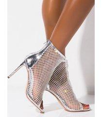 akira azalea wang thank you next peep toe stiletto heel bootie