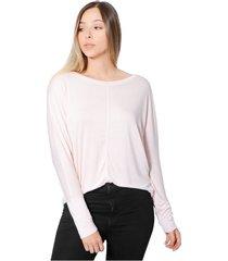 blusa amplia con cortes mujer tela  forever para mujer color siete - rosado
