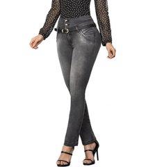jeans colombiano control de abdomen plomo bartolomeo