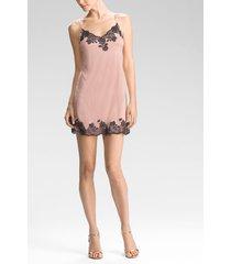 charlize chemise pajamas, women's, pink, size xl, josie natori