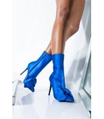 akira azalea wang need you all to myself stiletto bootie in blue