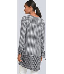 blus alba moda svart::grå::vit