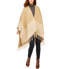 charter club reversible plaid colorblocked topper scarf, created for macy's