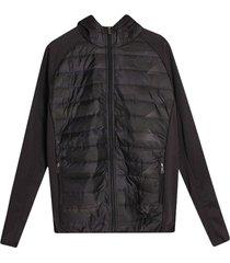 chaqueta acolchada hombre estampada color negro, talla l
