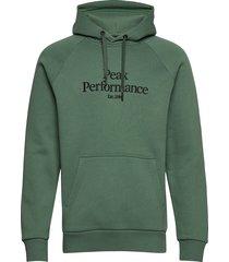m orig h hoodie trui groen peak performance