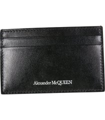 alexander mcqueen card holder with logo