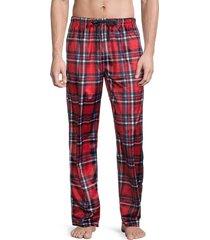 original penguin men's plaid pajama pants - red plaid - size xl