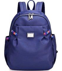 mochilas/ mochila impermeable de las mujeres de nylon-azul