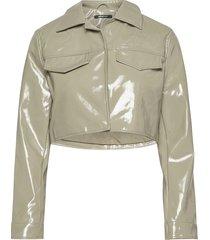 cassidy pu jacket läderjacka skinnjacka grön gina tricot