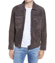 men's blanknyc asphalt leather jacket, size medium - brown