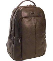 mochila para notebook e tablet em couro 7102