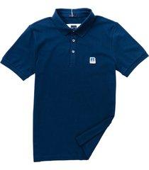 hugo boss boss x russell athletic cotton blend polo shirt