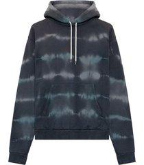 john elliott dark grey cotton hoodie