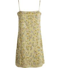 blumarine floral applique short dress