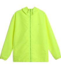 chaqueta antifluido hombre verde neon color verde, talla s