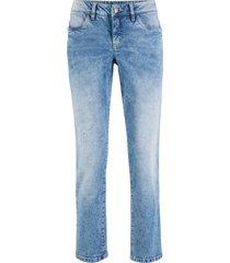 jeans elasticizzati corti authentik straight (blu) - john baner jeanswear