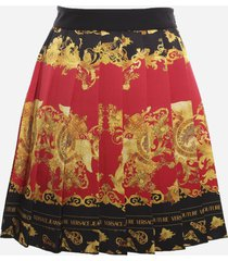 versace jeans couture skirt with all-over dauphine print