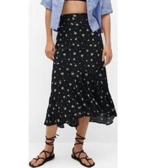 mango women's printed skirt with ruffles
