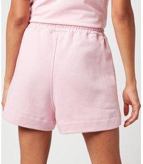 ganni women's isoli shorts - sweet lilac - l