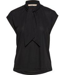 vita jersey blouses short-sleeved zwart whyred