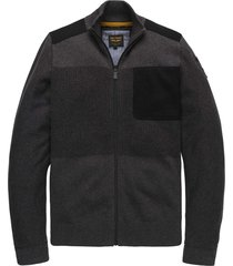 zip jacket cotton structure mix black onyx