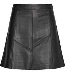 victoria leather skirt kort kjol svart odd molly