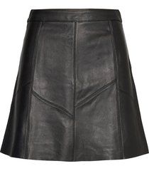 victoria leather skirt kort kjol svart odd molly