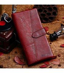 portamonete donna 19 carte con cerniera vera pelle portafoglio lungo portafoglio vintage