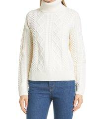 women's suistudio charm wool turtleneck sweater, size xx-large - ivory