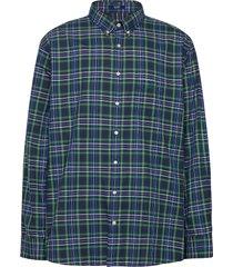 d2. tp oxford micro tartan reg bd skjorta casual grön gant