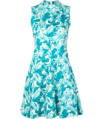 shanghai tang flared orchid dress - white