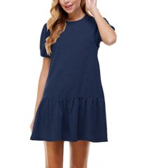 kingston grey juniors' drop-waist dress