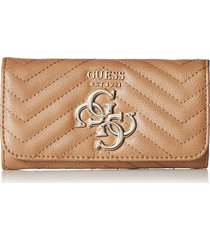 billetera violet slg slim clutch vg729451 para mujer guess - chocolate