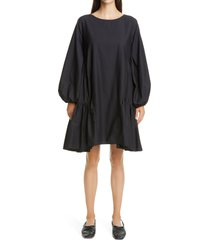 women's merlette byward long sleeve pima cotton dress, size small - black