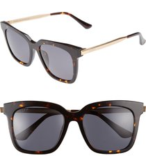 diff bella 52mm polarized sunglasses in tortoise/grey at nordstrom