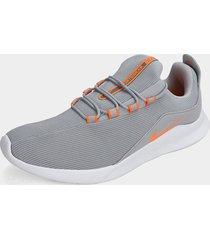 tenis lifestyle gris-naranja-blanco nike viale,