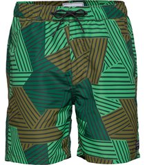 all over printed swimshort zwemshorts groen scotch & soda