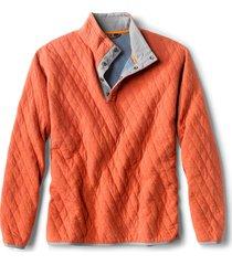 outdoor quilted snap sweatshirt, orange, xx large
