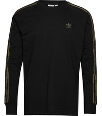 camo ls tee t-shirts long-sleeved svart adidas originals