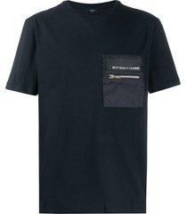 not guilty homme zipper pocket t-shirt - black
