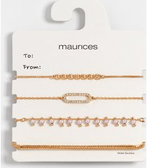 maurices womens gold mixed pull knot bracelet set